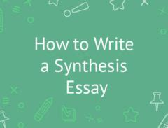 6 Synthesis Essay Examples & Samples PDF
